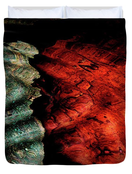 Abstract From Stone Wall Duvet Cover by Cynthia Dickinson