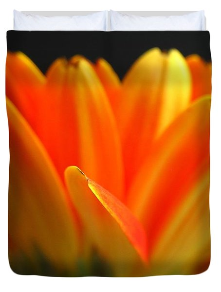 Abstract Gerbera Petals Duvet Cover by Juergen Roth