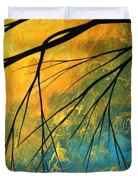 Abstract Landscape Art PASSING BEAUTY 2 of 5 Duvet Cover by Megan Duncanson