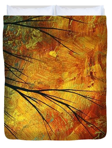 Abstract Landscape Art PASSING BEAUTY 5 of 5 Duvet Cover by Megan Duncanson