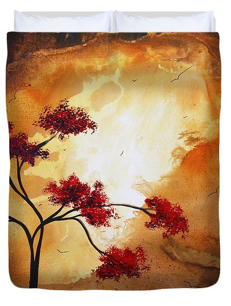 Abstract Landscape Painting Empty Nest 12 By Madart Duvet Cover by Megan Duncanson