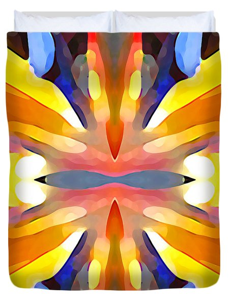 Abstract Paradise Duvet Cover by Amy Vangsgard