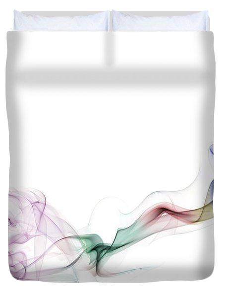 Abstract smoke Duvet Cover by Setsiri Silapasuwanchai