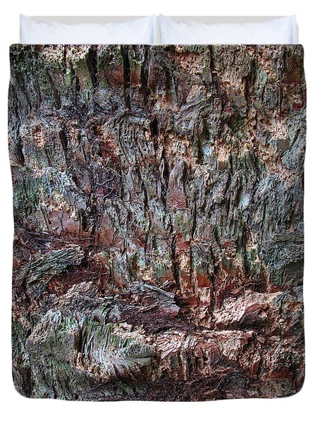 Abstract Tree Bark Duvet Cover by Juergen Roth