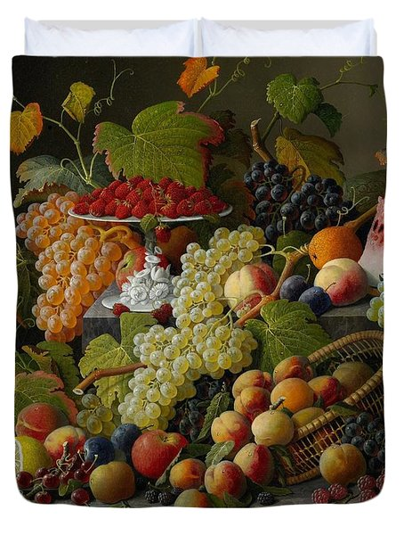 Abundant Fruit Duvet Cover by Severin Roesen