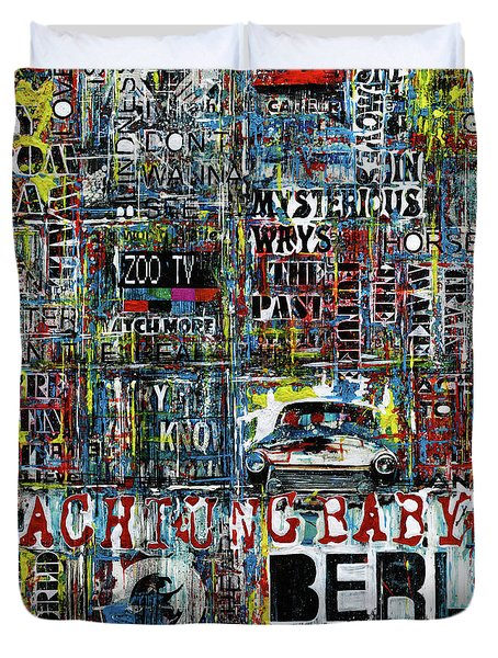 Achtung Baby Duvet Cover by Frank Van Meurs