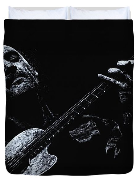 Acoustic Serenade Duvet Cover by Richard Young