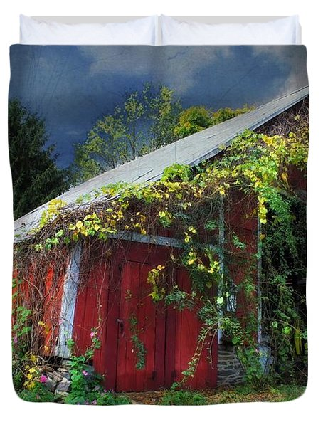 Adams County Winery Duvet Cover by Lori Deiter