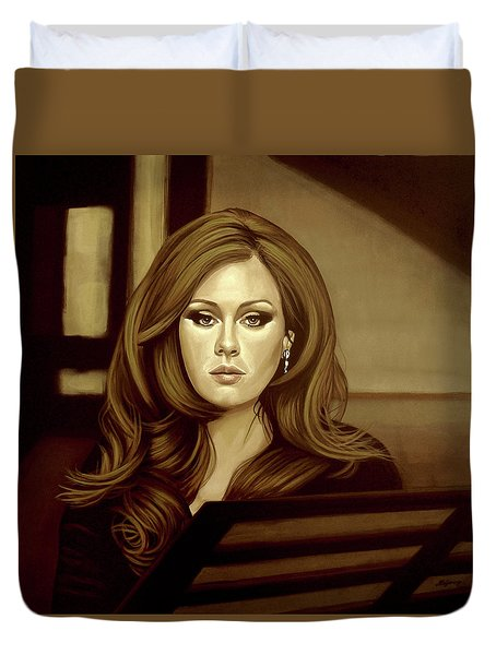 Adele Gold Duvet Cover by Paul Meijering