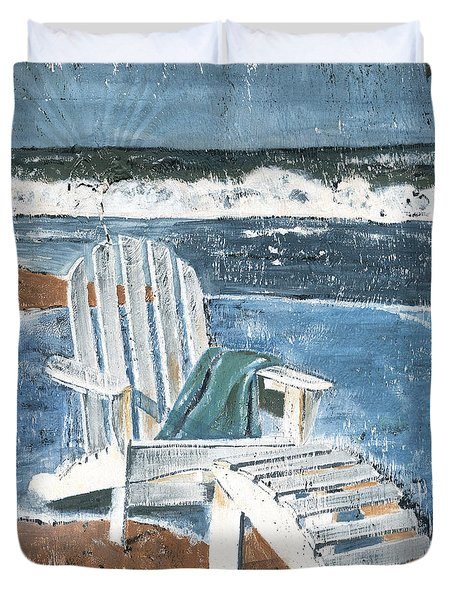 Adirondack Chair Duvet Cover by Debbie DeWitt
