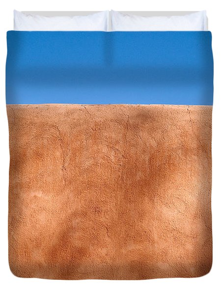 Adobe Wall Santa Fe Duvet Cover by Steve Gadomski