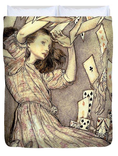 Adventures In Wonderland Duvet Cover by Arthur Rackham