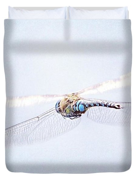 Aeshna Juncea - Common Hawker In Duvet Cover by John Edwards