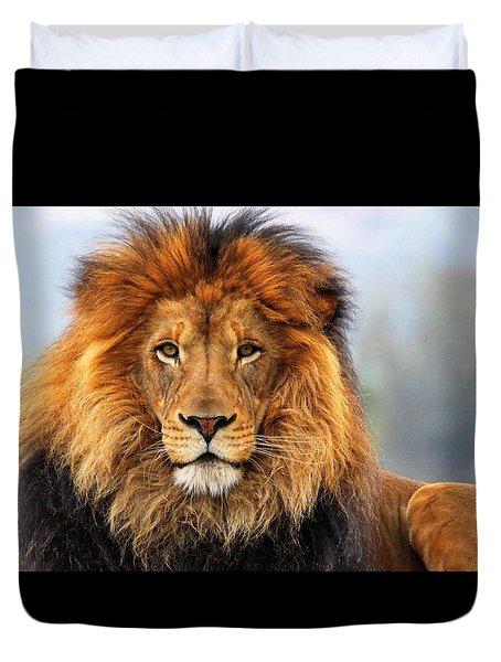 African Lion Duvet Cover by Ellen Henneke