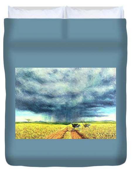 African Storm Duvet Cover by Tilly Willis