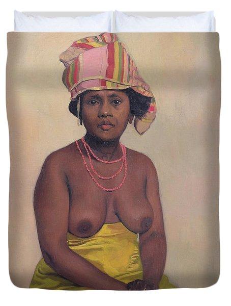 African Woman Duvet Cover by Felix Edouard Vallotton