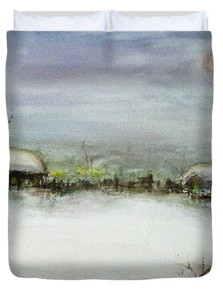 After A Heavy Fall Of Snow Duvet Cover by Xueling Zou