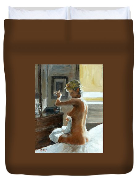 After Her Bath Duvet Cover by Ann Radley