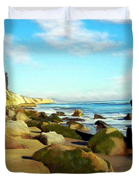 After The Fog Gaviota Duvet Cover by Kurt Van Wagner