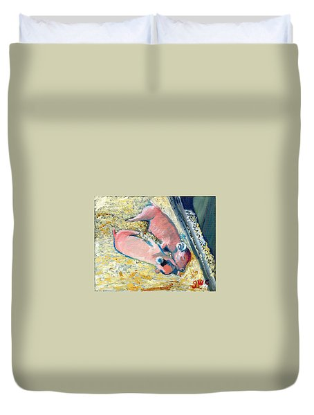 Afternoon Snooze Duvet Cover by Gloria Condon