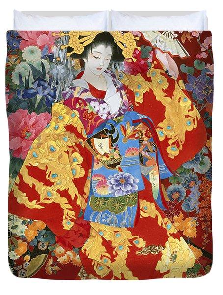 Agemaki Duvet Cover by Haruyo Morita