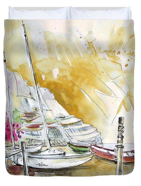 Agua Amarga 13 Duvet Cover by Miki De Goodaboom