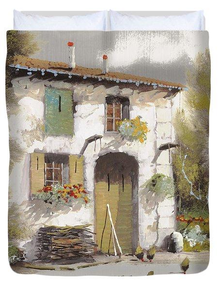 AIA Duvet Cover by Guido Borelli