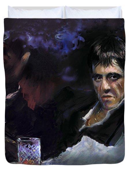 Al Pacino Snow Duvet Cover by Ylli Haruni