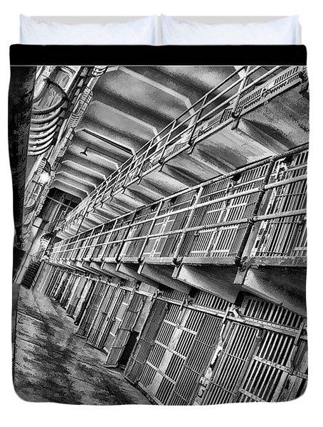 Alcatraz The Cells Duvet Cover by Blake Richards