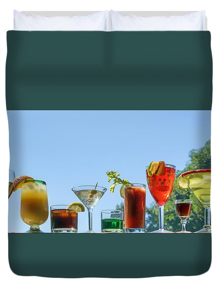 Alcoholic Beverages - Outdoor Bar Duvet Cover by Nikolyn McDonald
