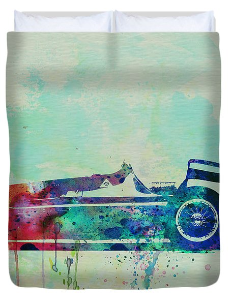 Alfa Romeo Tipo Watercolor Duvet Cover by Naxart Studio