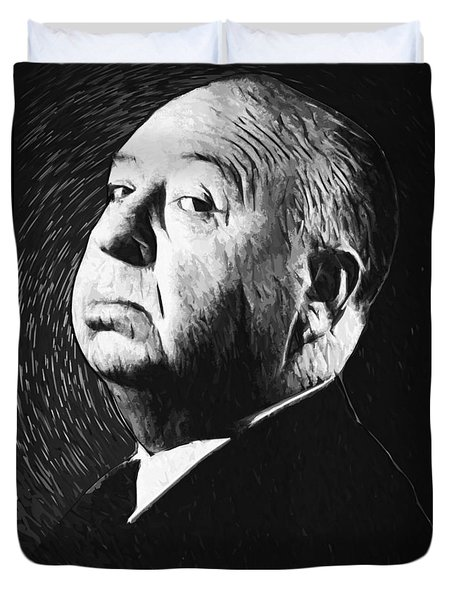 Alfred Hitchcock Duvet Cover by Taylan Soyturk
