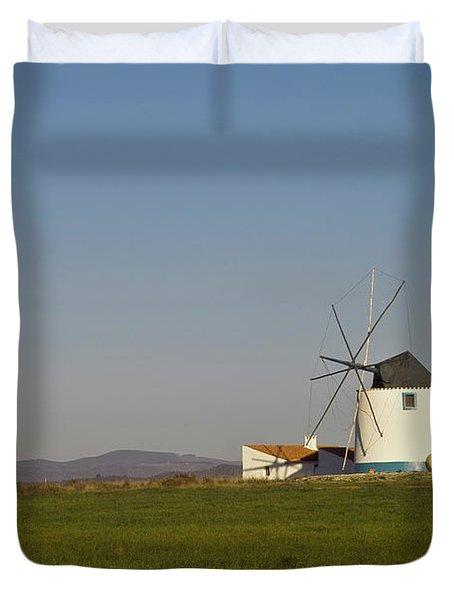 Algarve Windmill Duvet Cover by Heiko Koehrer-Wagner