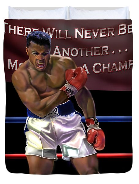 Ali - More Than A Champion Duvet Cover by Reggie Duffie