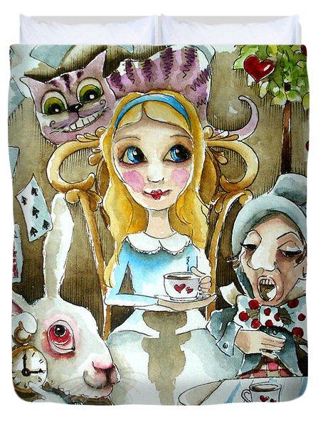Alice In Wonderland 1 Duvet Cover by Lucia Stewart
