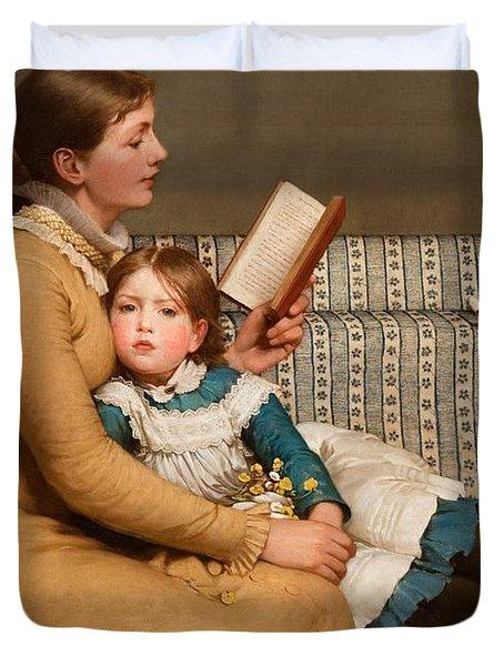 Alice In Wonderland Duvet Cover by George Dunlop Leslie