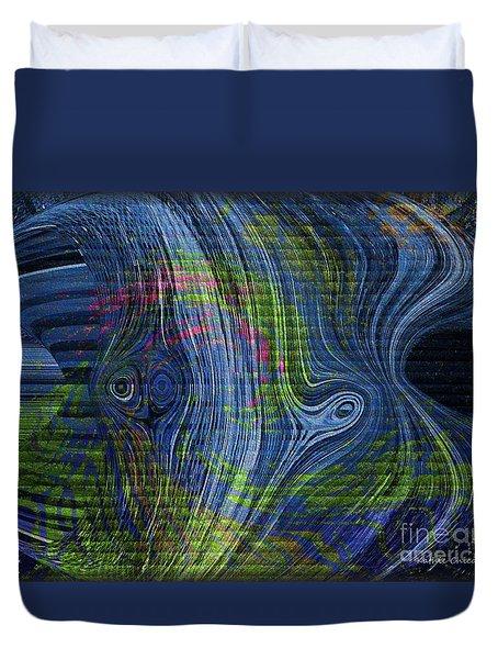 Alien Duvet Cover by Kathie Chicoine