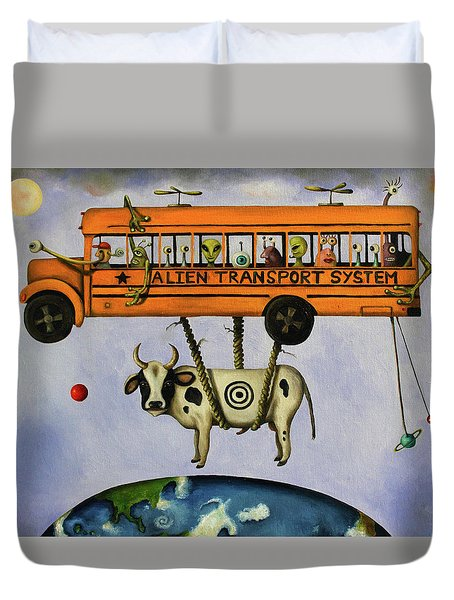 Alien Transport System Duvet Cover by Leah Saulnier The Painting Maniac
