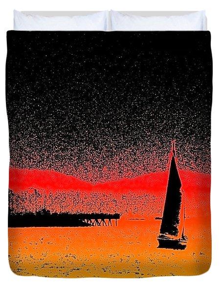 Alki Sail  Duvet Cover by Tim Allen