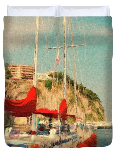 All Ashore Duvet Cover by Jeff Kolker