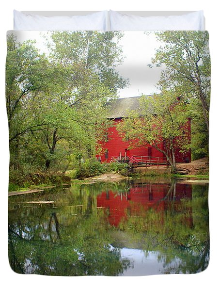 Allsy Sprng Mill Duvet Cover by Marty Koch