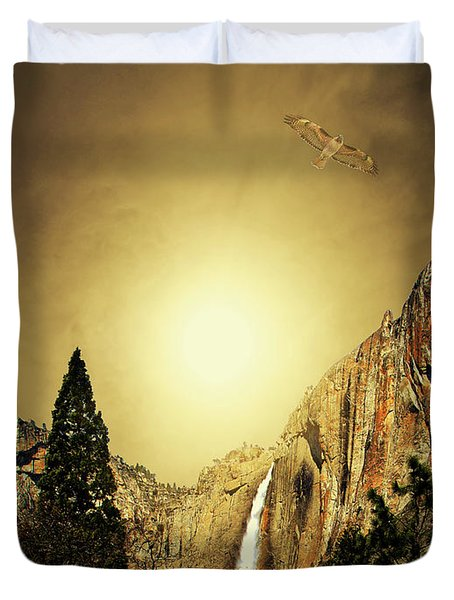 Almost Heaven . Full Version Duvet Cover by Wingsdomain Art and Photography