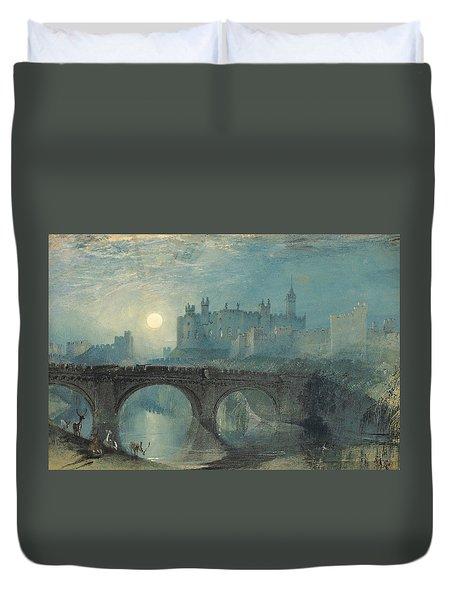 Alnwick Castle Duvet Cover by Joseph Mallord William Turner