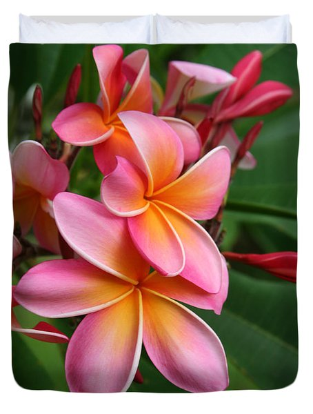 Aloha Lei Pua Melia Keanae Duvet Cover by Sharon Mau