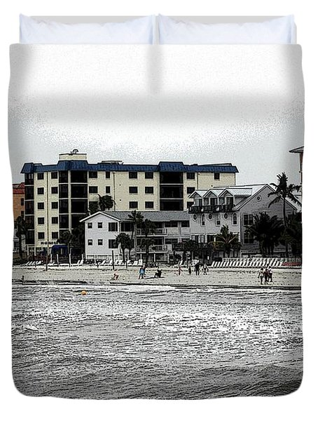 Along The Beach Duvet Cover by Kathleen Struckle