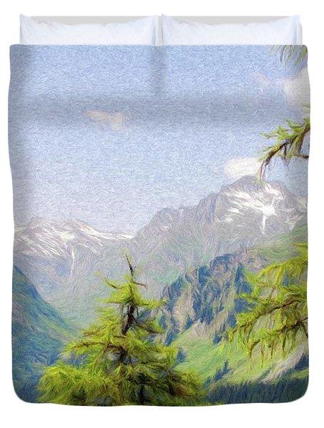 Alpine Altitude Duvet Cover by Jeff Kolker