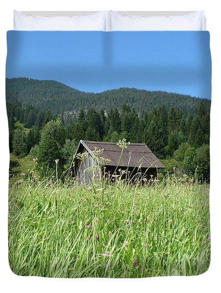 Alpine Meadow Duvet Cover by Carol Groenen