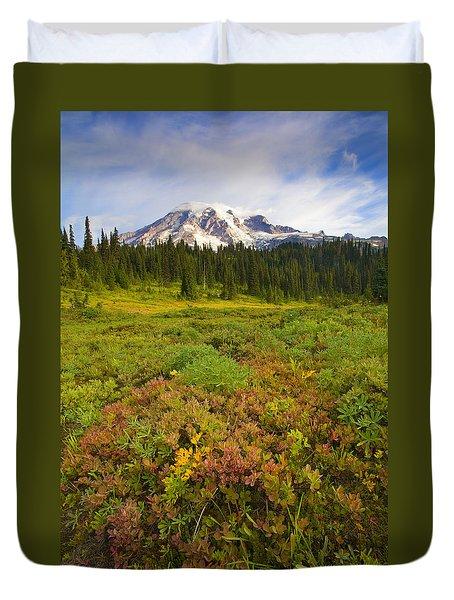 Alpine Meadows Duvet Cover by Mike  Dawson