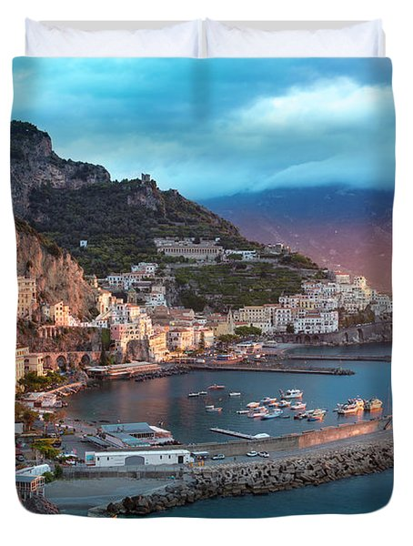 Amalfi Sunrise Duvet Cover by Brian Jannsen