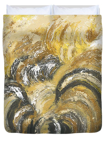 Amber Is The Color Of Your Energy Duvet Cover by Ania M Milo